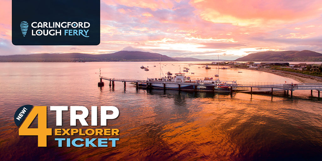CARLINGFORD LOUGH FERRY LAUNCHES NEW 4-TRIP EXPLORER TICKET!